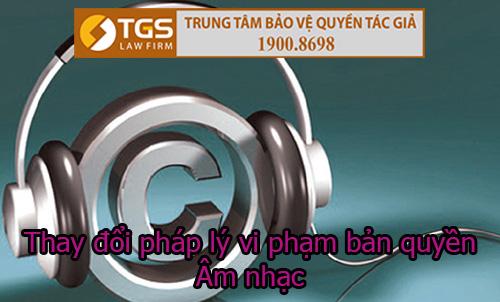 Thay đổi pháp lý về vi phạm bản quyền âm nhạc