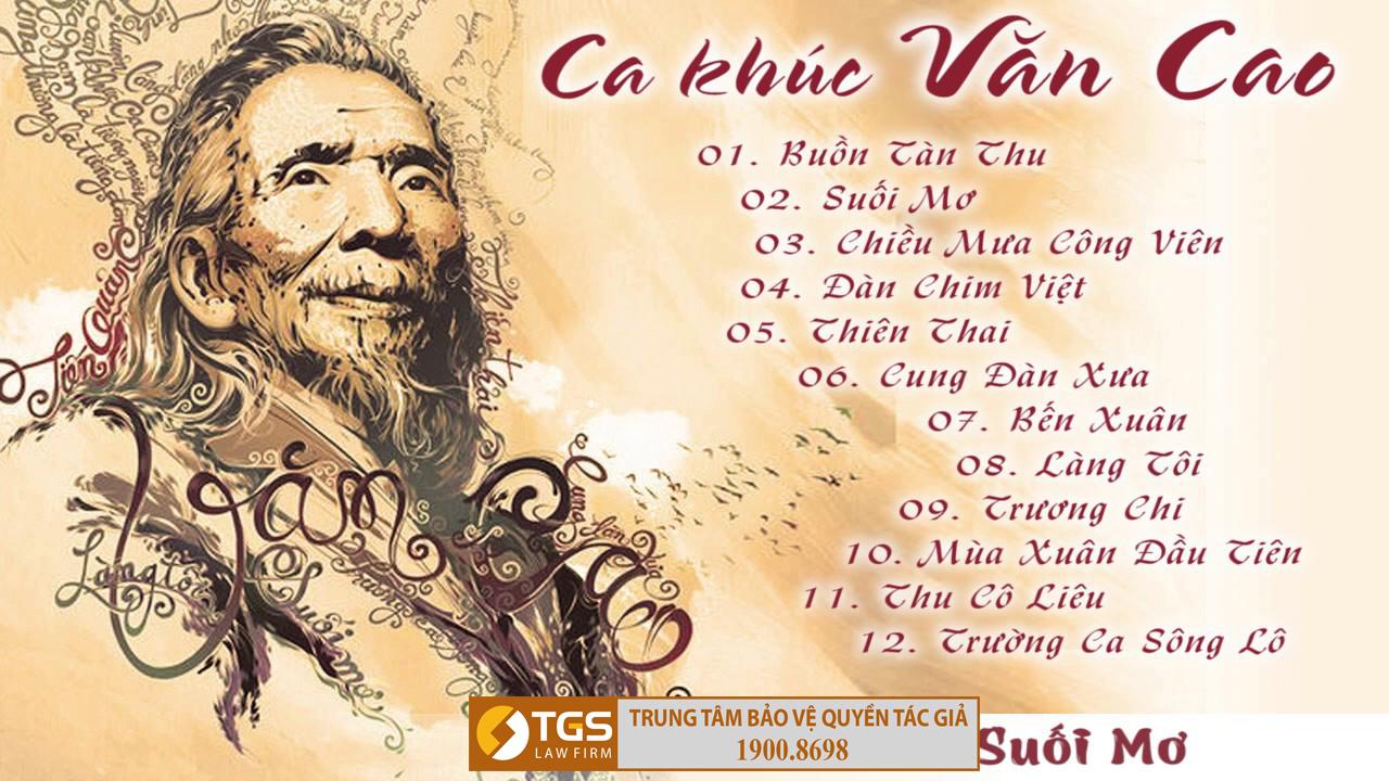 Các tác phẩm âm nhạc của nghệ sĩ Văn Cao